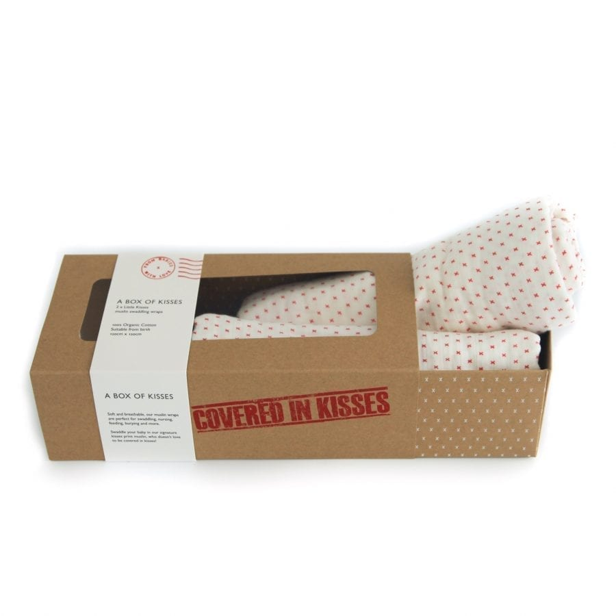 A box of kisses little kisses from babies with love organic muslin swaddles