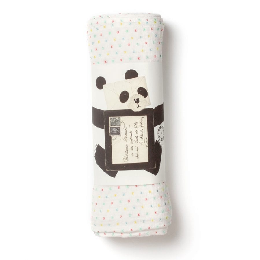 from babies with love first kisses muslin swaddle